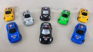8 Best Police Car for Kids Toddlers Children Educational Video to Learn Colors Box of Toys