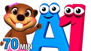 ABCs 123s + More | Alphabet Numbers Nursery Rhymes | Kids Learn 3D Cartoons by Busy & Baby Beavers - YouTube