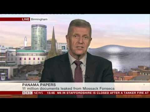 Frank Cochran on BBC News 6 April 2016 discussing Panama Papers tax story