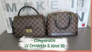Comparison between Louis Vuitton Alma BB and Croisette | Red Ruby Creates