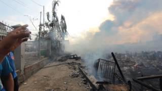 Kebakaran di Balikpapan Kampung baru tengah