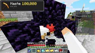 I secretly used Haste 100,000 in Minecraft Bedwars...