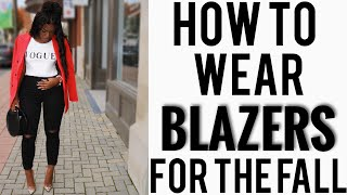 HOW TO STYLE BLAZERS FOR THE FALL 2018 | iDESIGN8 - YouTube