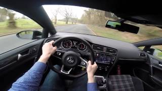 2016 VW Golf 7 GTI 230hp Performance Pack POV test drive GoPro