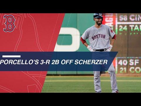 Rick Porcello bests Max Scherzer with 3-run double