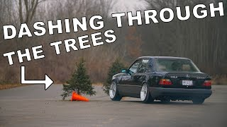 We Cut Down Christmas Trees and Raced Through Them // Winter Beater Challenge