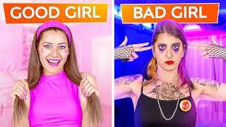 GOOD GIRL VS BAD GIRL   Being Popular for 24 Hours! GOOD STUDENT VS BAD STUDENT by 123 GO! CHALLENGE