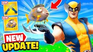 *NEW* WOLVERINE UPDATE is OP in Fortnite! (MIDAS Fish FOUND)