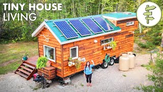 Woman Living Off-Grid in Her Tiny House in Northern Canada