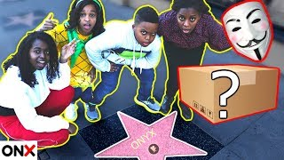 Finding a MYSTERY BOX in Hollywood! Clue Master's Secret Mission in Real Life - Onyx Family