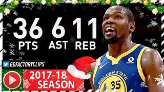 Kevin Durant CRAZY Full Highlights vs Lakers (2017.12.18) - 36 Pts, 11 Reb, 8 Ast, 3 Blks, CLUTCH