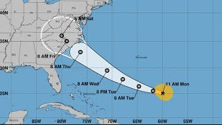Hurricane Florence strengthens back to category three