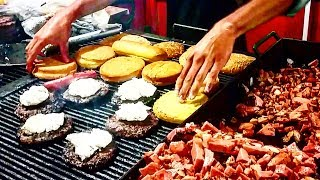 BEST Mexican Street Food EVER!!! - Street BURGERS - EXTREME FLAVOR  Deep In San Luis Potosi, MEX.