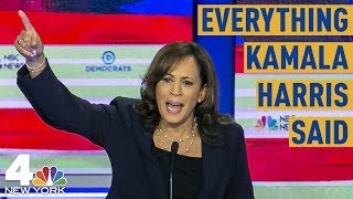 Everything Kamala Harris Said at the Democratic Debate, From Food Fights to Busing | NBC New York