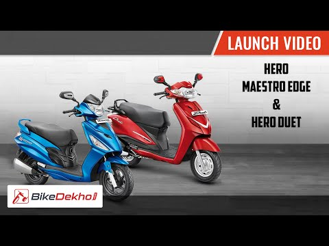 Hero Maestro Edge and Duet Unveil Video | BikeDekho.com
