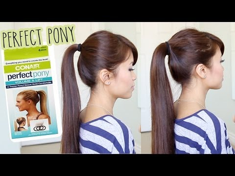First Impression: Conair Perfect Pony Tool Demo & Review - How to Get a Thicker Ponytail - Bebexo  - iQRr-5kueB0 -