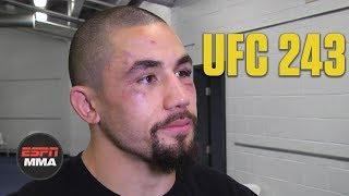Robert Whittaker reacts to loss vs. Israel Adesanya | UFC 243 | ESPN MMA