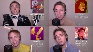 ONE GUY, 24 DISNEY VOICES (Simba, Aladdin, Olaf, Gaston)