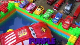 Block Lightning Mcqueen Disney Cars for Kids  Learn Colors Nursery Rhymes Song