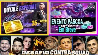 ROYALE NARCISO. CARTÃO LV8. EVENTO PÁSCOA FREE FIRE. DESAFIO CS