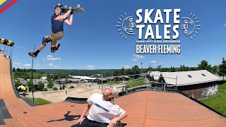 Attempting The Mini MegaRamp With Beaver Fleming  |  SKATE TALES Ep 5