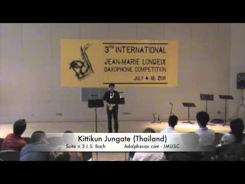 3rd JMLISC: Kittikun Jungate (Thailand) Suite N.3 J.S Bach