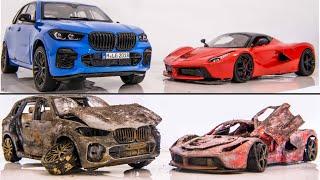 Restoration BMW X5M G05 vs Ferrari Laferrari - Abandoned Model Cars