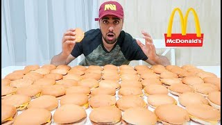 EATING 100 MCDONALDS BURGERS (IMPOSSIBLE) *100,000 CALORIES*