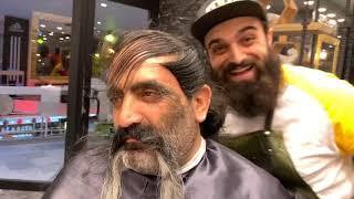 Babamın 1 Yıllık Saçını Sakalını Kestik!!?
