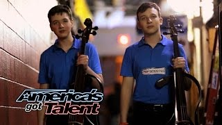 Emil & Dariel: Cello Players Rock With Jimi Hendrix Cover - America's Got Talent 2014