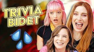 3 GIRLS 1 BIDET (ft. Bree Essrig, Sarah Whittle, Alana Fickes) | TRIVIA BIDET
