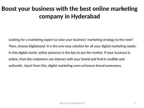 Digital marketing company in Hyderabad | best online marketing agency in Hyderabad | Digitalseed