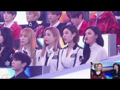 [171231] MBC 가요대제전 Mamamoo reaction to Red Velvet