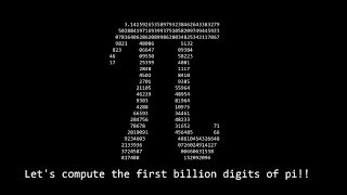 Computing about half a billion digits of pi