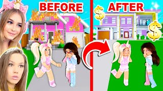 My BEST FRIENDS HOUSE Was SET ON FIRE So I SURPRISED Her A *NEW* One In Brookhaven! (Roblox)