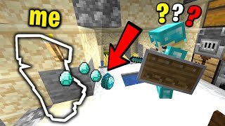 Trolling my new minecraft friend with invisibility...