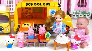 Baby Doll Hello Kitty School Bus Peppa Pig Toy Soda