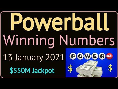 Today Powerball Winning Numbers Wednesday 13 January 2021. Powerball Drawing Tonight 1/13/2021