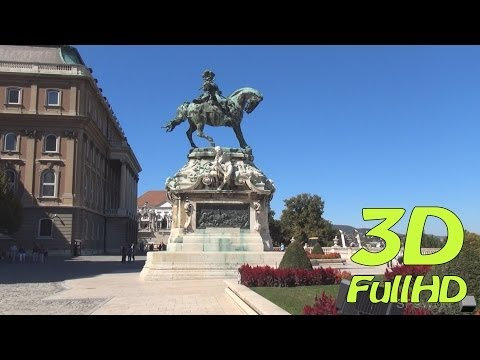 [3DHD] Walking Tour/Gyalogtúra: Buda Castle / Budavári Palota, Budapest, Hungary / Magyarország