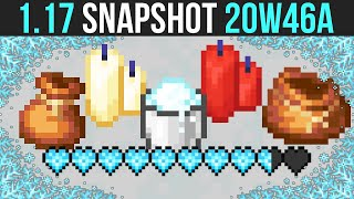 Minecraft 1.17 Snapshot 20w46a Powder Snow, Freezing Damage & Bundle Preview