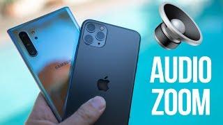 iPhone 11 Audio Zoom Annihilates Note 10+ Zoom-In Mic