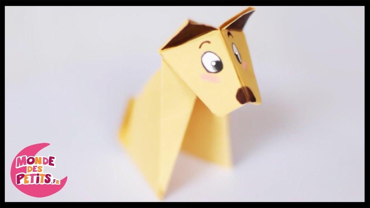 origami le chien en papier pli youtube. Black Bedroom Furniture Sets. Home Design Ideas
