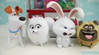 Secret life of pets play the claw machine game