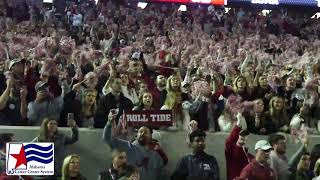 """Alabama fans sing """"Rammer Jammer"""" after the 2018 Iron Bowl"""