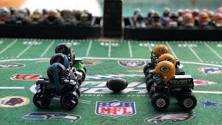 "MONSTER TRUCK FOOTBALL PLAYOFF GAME ""TEXANS VS PACKERS"""