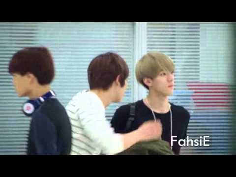 121125 Exo@ Suvarnabhumi Airport [Chanyeol-Sehun Focus]