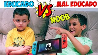 CRIANÇA EDUCADA VS MAL EDUCADA JOGANDO VIDEO GAME: NINTENDO SWITCH