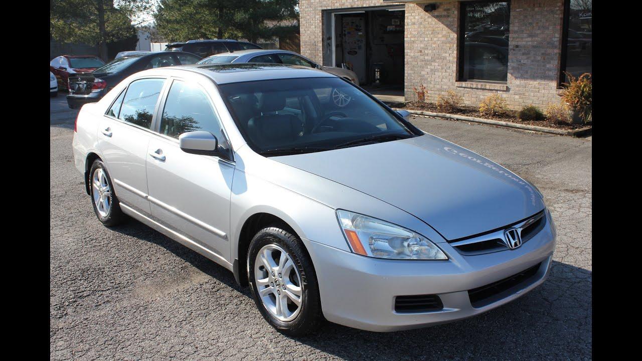 Honda Civic Ex-L >> Used 2006 Honda Accord EX-L Silver Leather Sunroof for ...