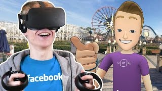 FACEBOOK IN VIRTUAL REALITY! | Facebook Spaces VR (Oculus Touch Gameplay)