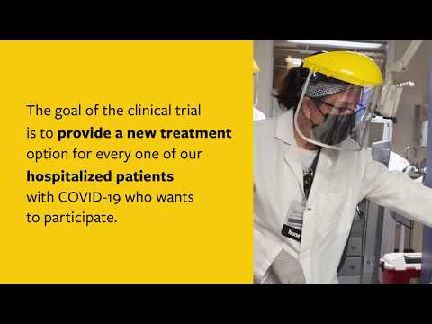 Clinical Trial - Plasma from recovered COVID-19 patients used as treatment